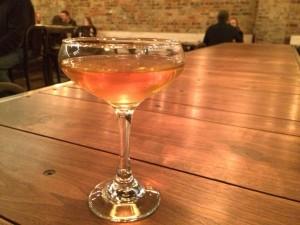 The Goldenrod, $9, features Buffalo Trace bourbon, Dolin dry vermouth, yellow Chartreuse, Benedictine, absinthe and Peychaud's bitters.