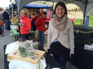 Anna Powell of Indiana Microgreens sold out on opening day at the Broad Ripple Farmers' Market.