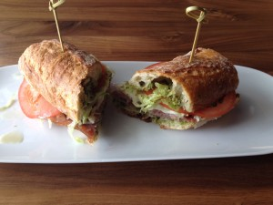 The Craft #8 sandwich. $9.50,  at No Coast Reserve features pesto and prosciutto.