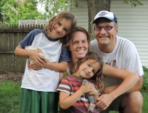 Chad and Elizabeth Heeter live in Irvington with their two children.