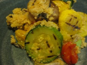 Grilled veggies add a smoky note to couscous or other grains. Photo by Carolyn Doyle